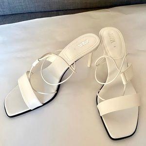 Zara white strappy sandal
